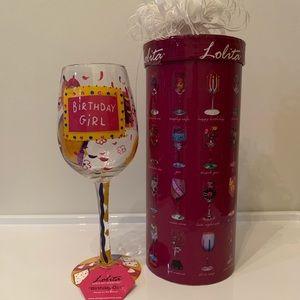 "Lolita ""Birthday Girl"" Wine Glass"